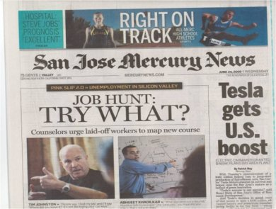 CareerTiger on San Jose Mercury News cover page